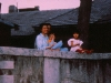 family watching protests Changchun, China 1989