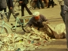 clean-up after ongoing protests