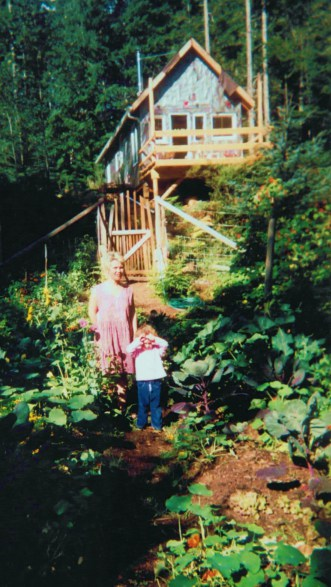 in the garden our first year at the cabin